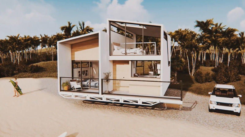 Rotating  Prefabricated Luxury Villas