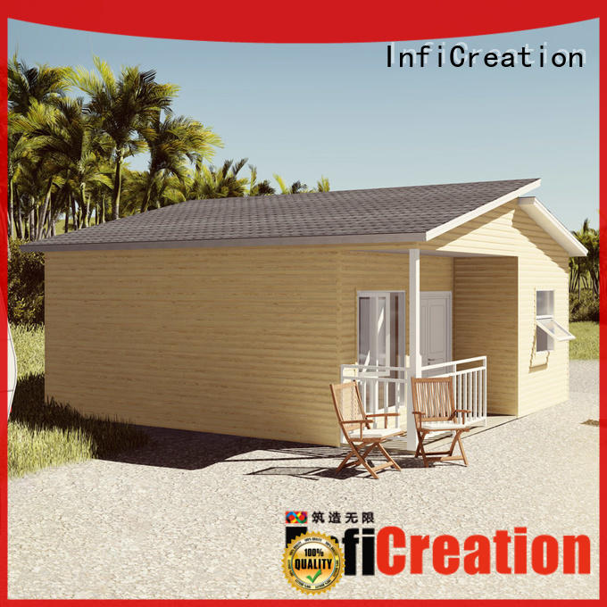 InfiCreation comfortable prefabricated cottages manufacturer for entertainment centers