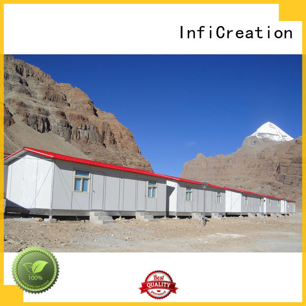 InfiCreation fast assembly prefabricated k house manufacturer for accommodation
