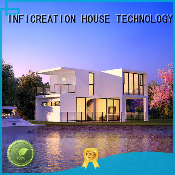 InfiCreation pre manufactured homes manufacturer for entertainment centers