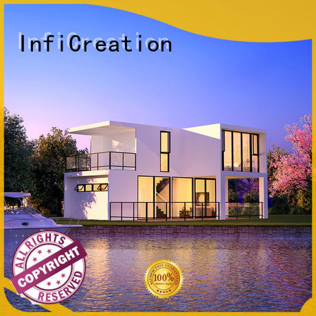 InfiCreation portable prefabricated luxury villas designer for hotel