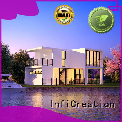 InfiCreation luxury prefab homes factory price for entertainment centers