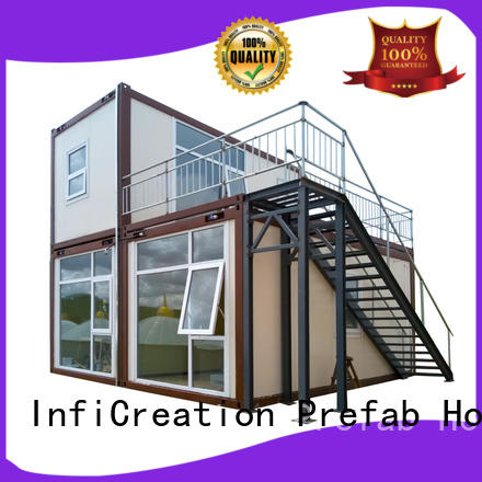 completed welding modular container house sandwich panel for carport InfiCreation