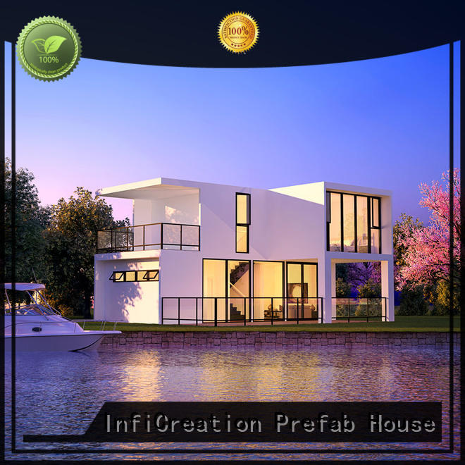 Beautiful Two Floors Luxury Prefabricated Houses with Factory Price