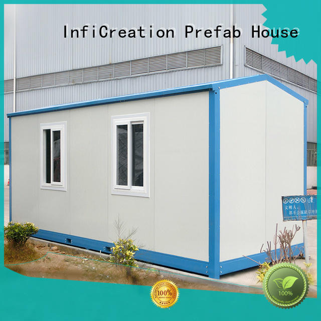 flat packing prefab container house sandwich panel for booth InfiCreation