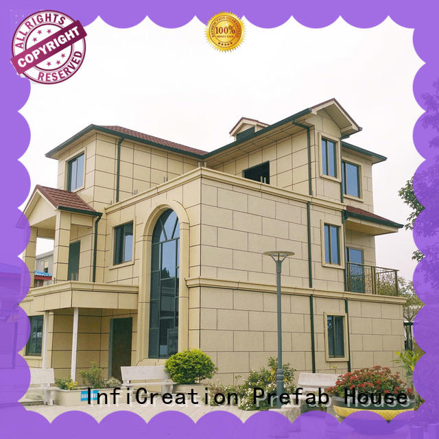 InfiCreation mobile pre manufactured cottages factory price for entertainment centers