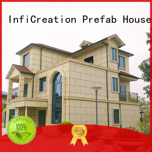 steel modular cottages factory price for hotel