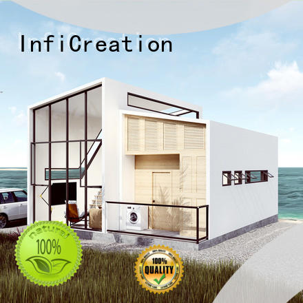 prefab home kits H type steel for hotel InfiCreation
