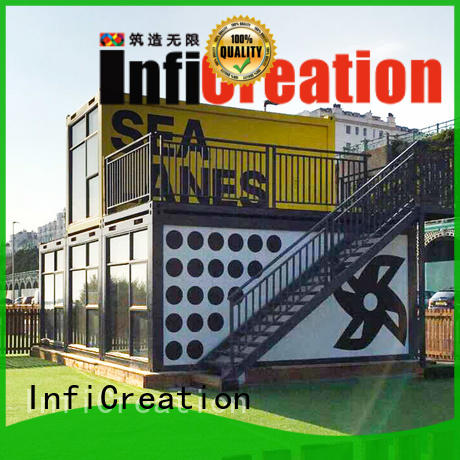 InfiCreation recyclable modular container homes factory for carport