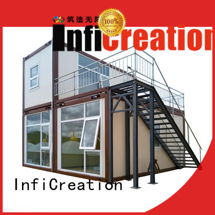 InfiCreation prefab container homes supplier for booth