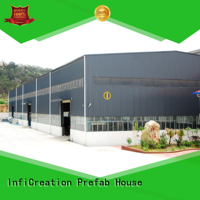 InfiCreation durable prefabricated steel warehouse customized for storage