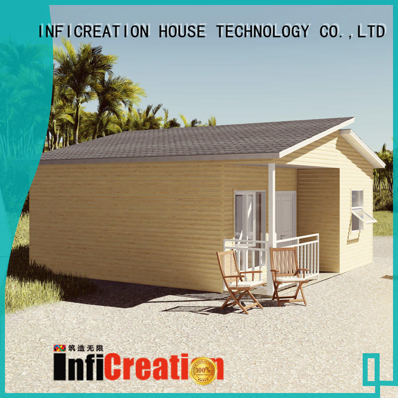 economical pre fabricated cottages designer for accommodation