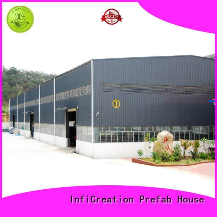 InfiCreation durable prefabricated warehouse buildings customized for company
