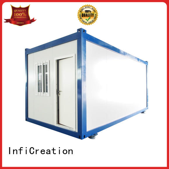 InfiCreation freight container homes supplier for booth