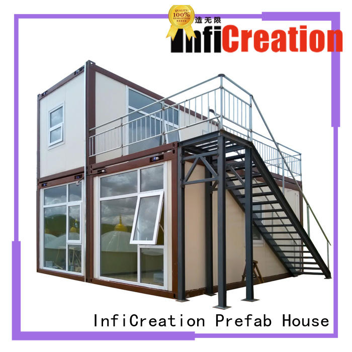 InfiCreation low cost premade container homes factory price for carport