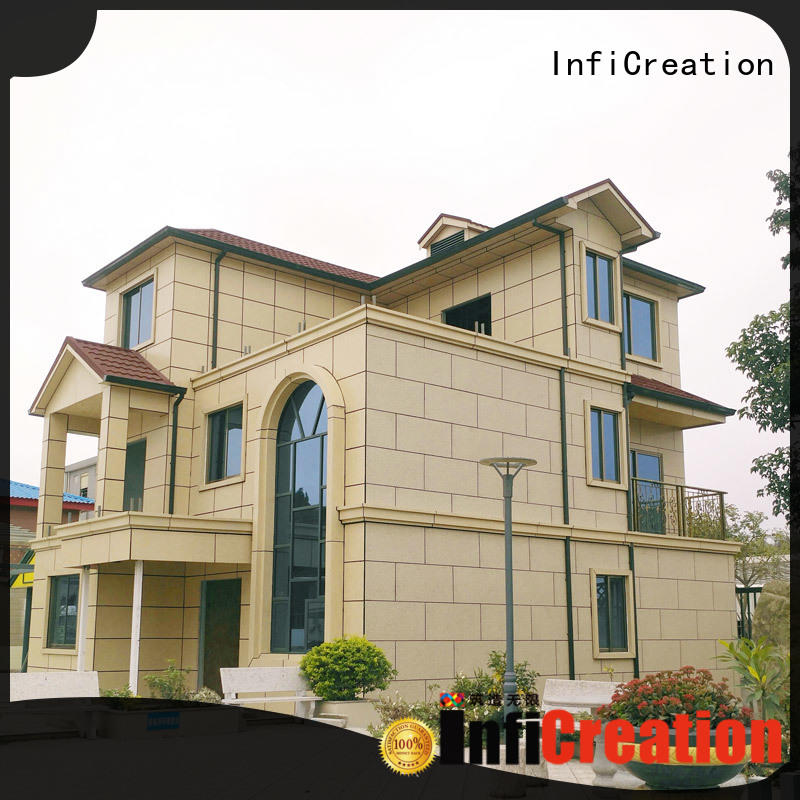 InfiCreation steel modular beach cottages manufacturer for entertainment centers