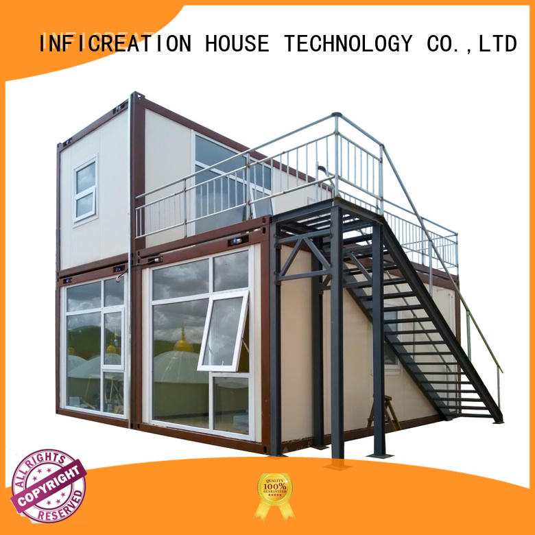 InfiCreation steel prefab storage container homes factory for toilet