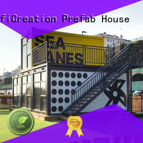 InfiCreation recyclable pre built container homes customized for booth
