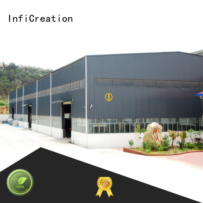 InfiCreation environmental friendly pre manufactured warehouse manufacturer for company