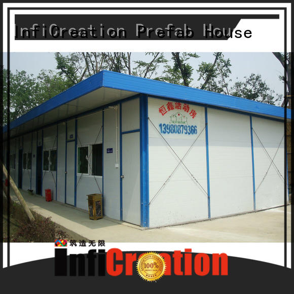 InfiCreation competitive price sandwich panel prefab house for accommodation