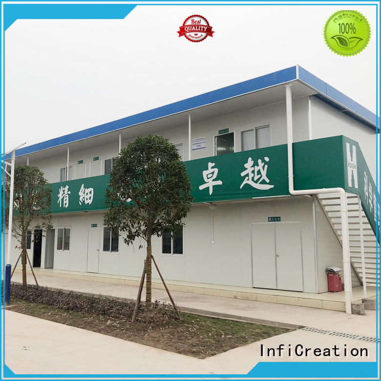 completed welding prefabricated container homes square tube for accommodation InfiCreation