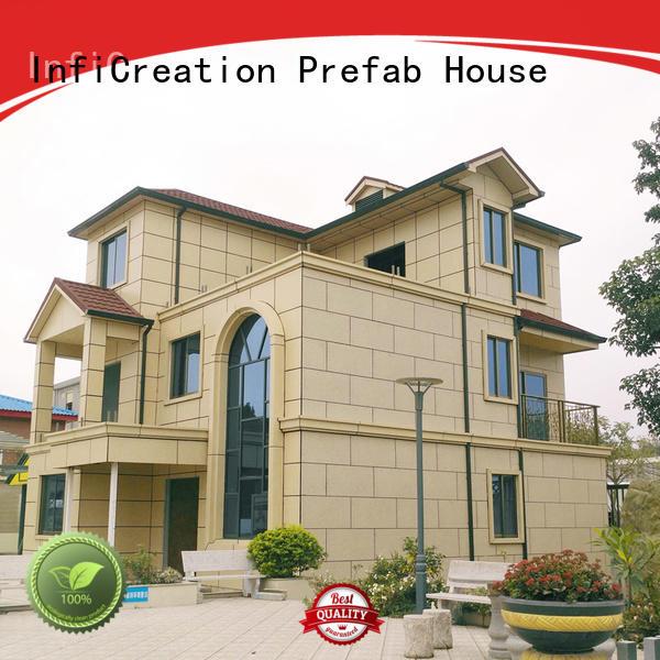 InfiCreation comfortable luxury prefab homes custom for entertainment centers