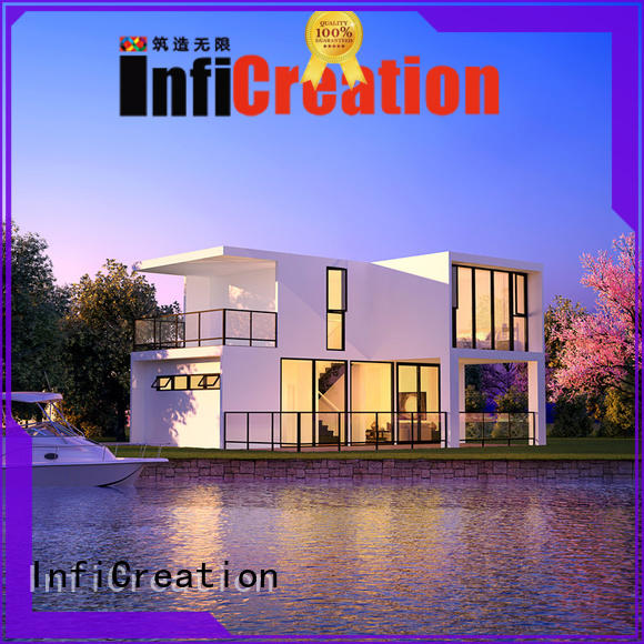 InfiCreation economical modular villas factory price for resorts