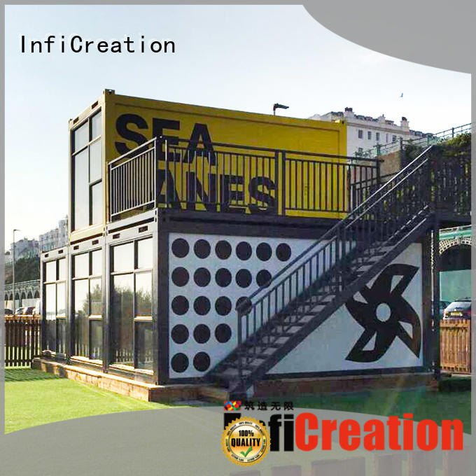 InfiCreation recyclable freight container homes factory price for carport