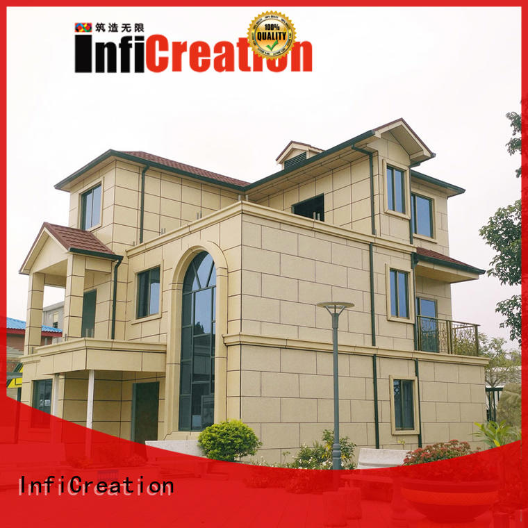 cottage modular homes light steel structure for accommodation InfiCreation