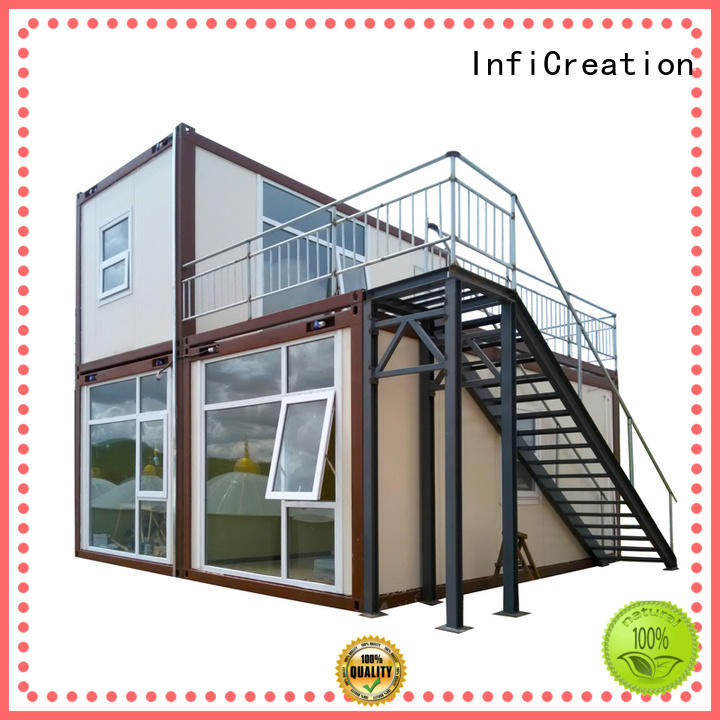 durable single container house customized for booth