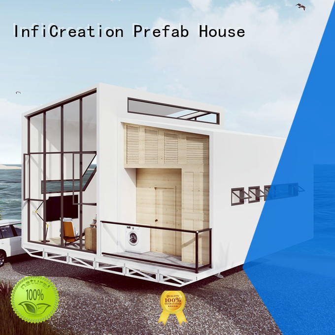H type steel prefabricated luxury villas galvanized light steel for hotel InfiCreation
