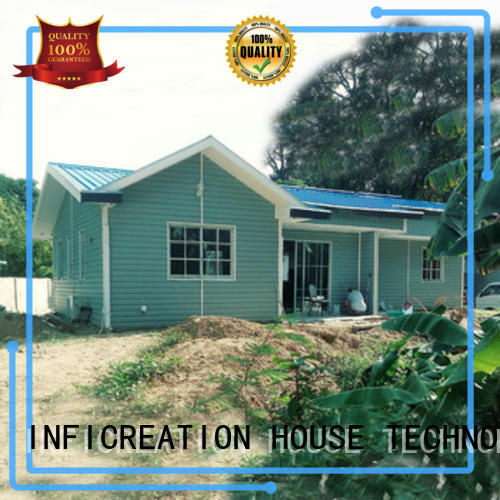 InfiCreation prefabricated cottages manufacturer for hotel