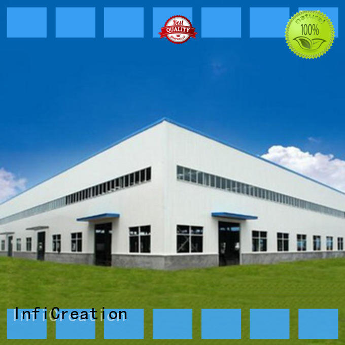 InfiCreation windproof prefab steel warehouse design for factory