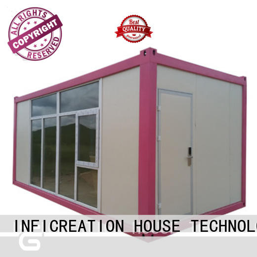 steel prefabricated container homes supplier for booth