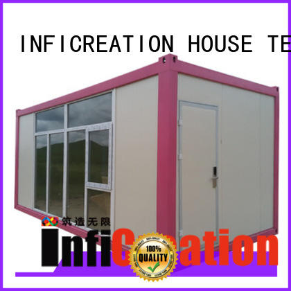 InfiCreation tiny modular container homes supplier for booth