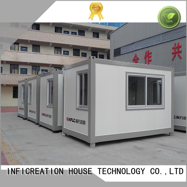 InfiCreation low cost modular container homes supplier for booth