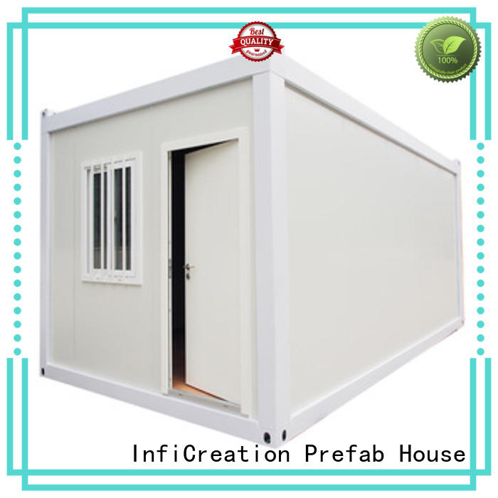 InfiCreation premade container homes customized for booth