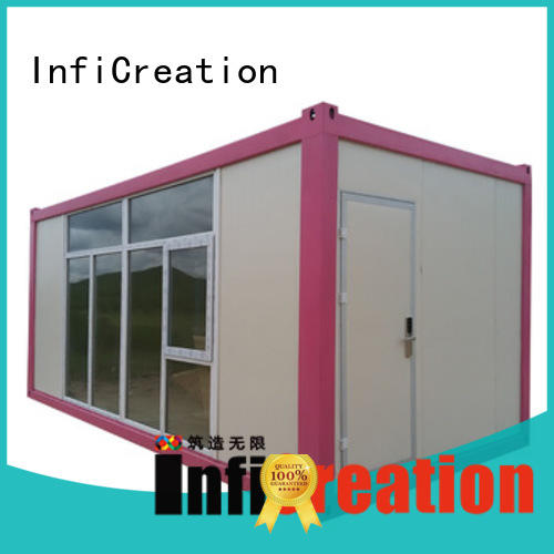 InfiCreation low cost storage container homes customized for toilet