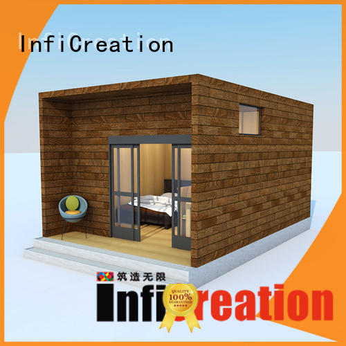 InfiCreation beautiful pre fabricated cottages manufacturer for hotel