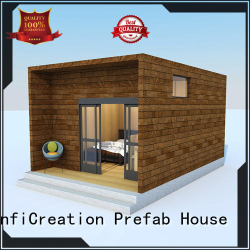 InfiCreation economical pre fabricated cottages designer for hotel
