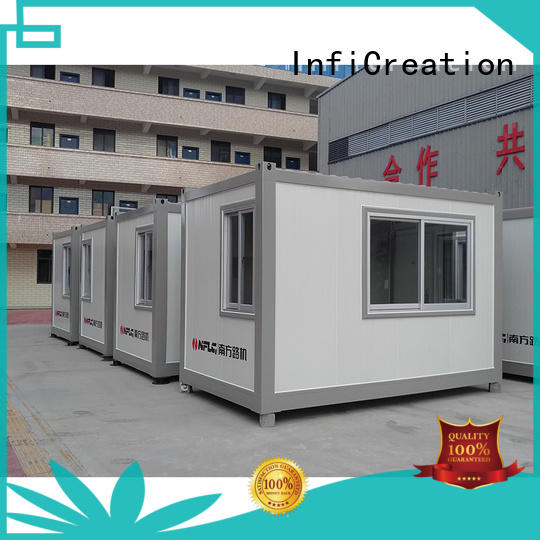 InfiCreation tiny cargo container house manufacturer for booth